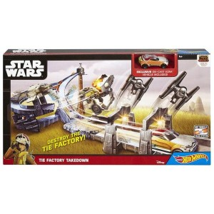 Hot Wheels Star Wars - Zestaw torów Tie Factory CHB13 CLM24
