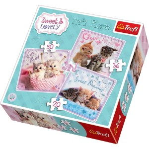 Trefl Puzzle Sweet & Lovely Kotki 3w1 34809
